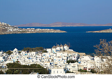 Mykonos, known from the famous wind mills