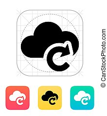 Reload cloud icon Vector illustration
