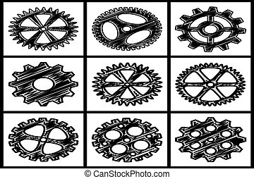 Collection of gears