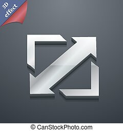 Deploying video, screen size icon symbol. 3D style. Trendy,...