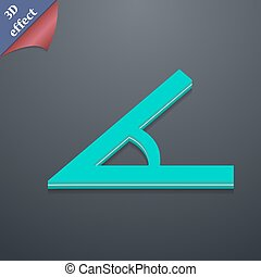 Angle 45 degrees icon symbol 3D style Trendy, modern design...