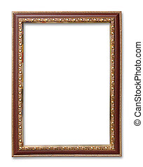 antique frame on the white background