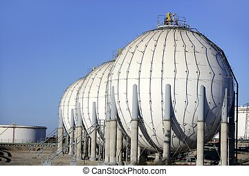 Big chemical tank petrol container oil industry - Big...