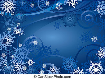 Snowflakes Design vector - Snowflakes Design With Space For...