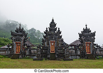 Hindu temple Pura Ulun Danu Buyan at Lake Buyan in the...