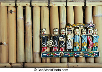 Balinese people figures - Colored balinese people figures...