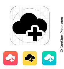 Cloud computing with plus icon.