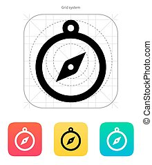 Hand compass icon. Vector illustration.