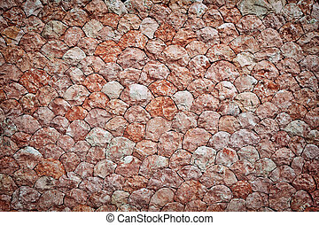 Stone wall background - Natural motted pink stone wall...