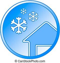 blue winter icon