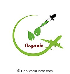 organic icon green vector illustration