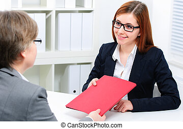 Job interview - Job applicant having an interview