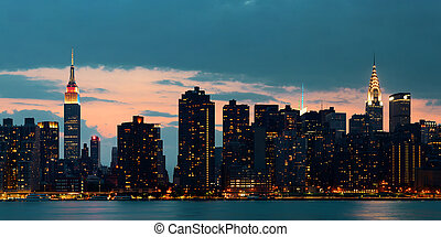 midtown, Manhattan, orizzonte,