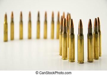 munição, para, rifle,