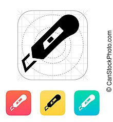 Knife icon. Vector illustration.