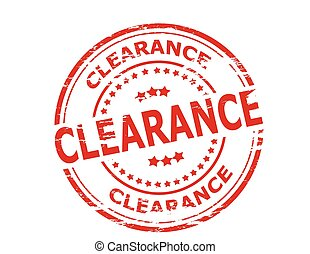 Clearance - Stamp with word clearance inside, vector...