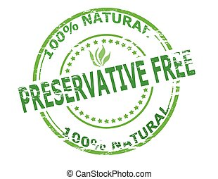 Preservative free - Stamp with text preservative free...