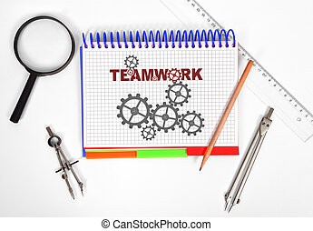 notepad with timework on the desktop engineer