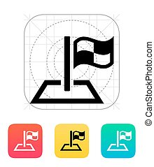 Racing flag icon. Vector illustration.