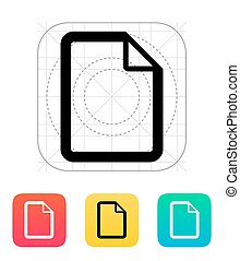 File icon. Vector illustration.