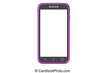 purple smartphone
