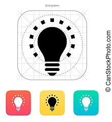 Less light icon Vector illustration - Less light icon on...