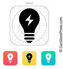 Electric light icon. Vector illustration. - Electric light...