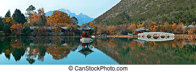 Black Dragon pool in Lijiang, Yunnan, China