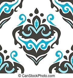 Damask  seamless flourish  pattern