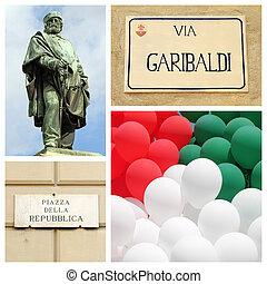Giuseppe Garibaldi and birth of the Italian republic concept
