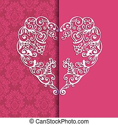 Greeting card heart for Valentin Day. - Greeting card...