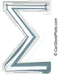 Abstract Sigma Sum sign vector illustration