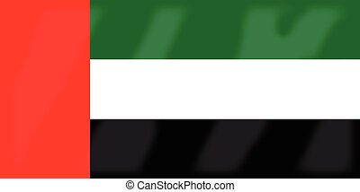 United Arab Emirates Flag - Flag of the Arab League country...