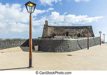 Arrecife and Castle of San Gabriel, Lanzarote, Canary...