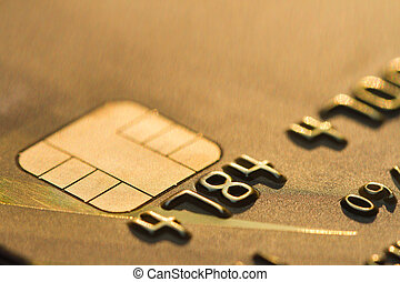 credit card macro EMV chip.