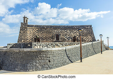 Arrecife and Castle of San Gabriel, Lanzarote, Canary...