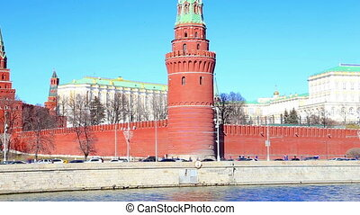 daily traffic, Moscow, Russia - Embankment of the Moskva...