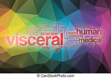 Visceral word cloud with abstract background