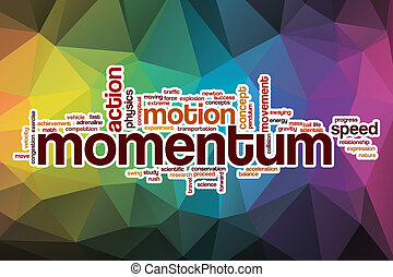 Momentum word cloud with abstract background - Momentum word...