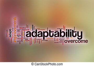 Adaptability word cloud with abstract background