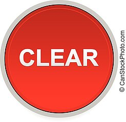Illustration of a red button with word clear