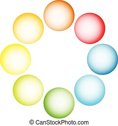 Shaded circles, spheres on white Vector eps 10 Shaded...