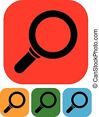 Simple magnifier icons Simple magnifier icons - Simple...