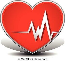 Coração, ataque, Cardiologia,