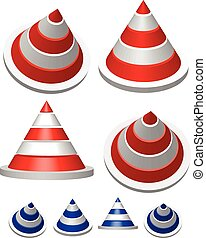 Illustration of traffic cones