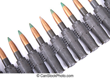 ammo - army ammo isolated on the white background