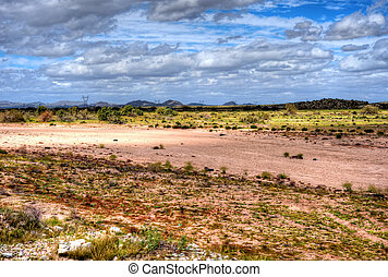 Gila River - Dry Gila river bed Sonora desert in central...