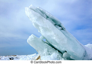 Ice Slabs on Lake Huron - Large Offshore Ice Slabs on Lake...