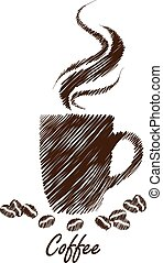 coffee cup hand drawn vector,illustration