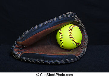 Fastpitch Catchers Mitt - A fastpitch catchers mitt used in...